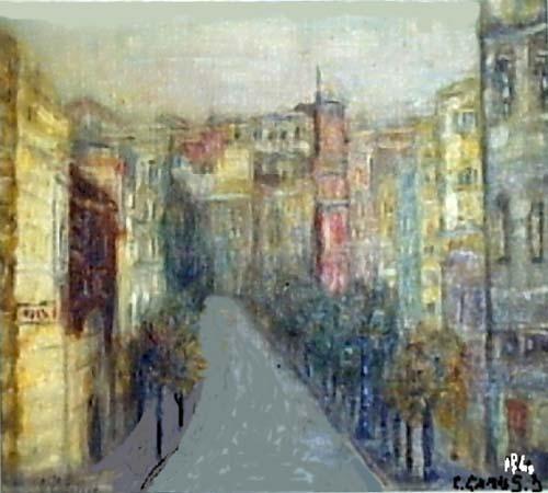 Camusartist - Calle Victorino Lastarria - CamusArt-Original Oleo