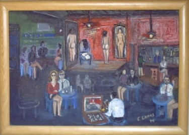 Night Club- Chile- CamusArt-Original Oleo